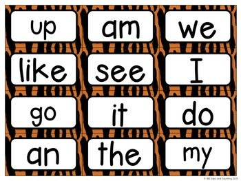 Fountas Pinnell Editable Word Wall Cards Jungle Theme