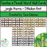 Fountas & Pinnell Editable Word Wall Cards (jungle theme~D'NEALIAN)