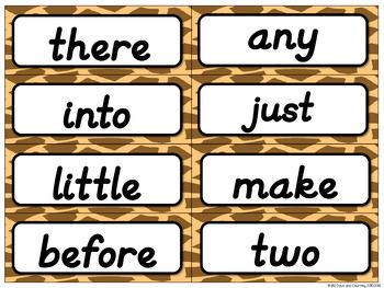 Fountas & Pinnell Editable Word Wall Cards (jungle theme~D'NEALIAN)