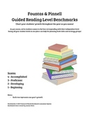 Fountas and Pinnell Guided Reading Level Benchmarks - Class Tracking Chart
