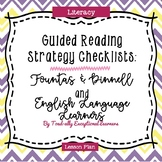 Guided Reading Questions and Checklist {Fountas & Pinnell & ELL}