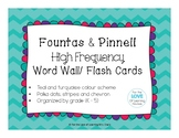 Fountas & Pinnell High Frequency Word Wall/ Flash Cards
