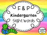 Fountas & Pinnell Kindergarten Sight Words (75)