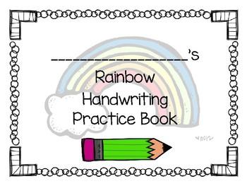 Fountas & Pinnell LK 11 Rainbow Handwriting Book