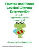 Fountas & Pinnell LLI Green Lessons 61 - 70 Supplementary