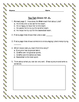 Leveled Literacy Intervention Green System 101-110