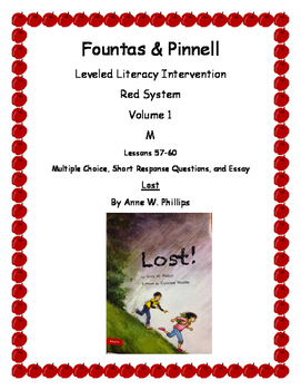 Leveled Literacy Intervention Red Novel: Lost