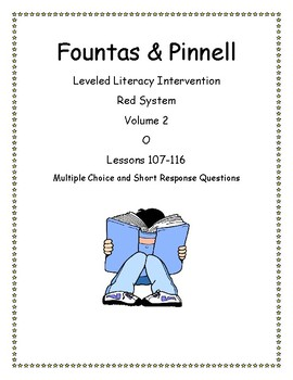 Fountas & Pinnell Leveled Literacy Intervention Red System