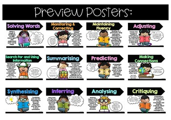 Fountas&Pinnell - Reading - Systems of Strategic Actions Posters ~MissMacAttack~