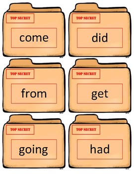 Fountas/Pinnell Sight Word Flash Cards~ 1st grade Case Files