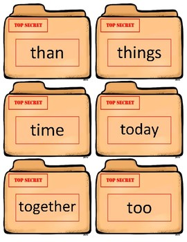 Fountas/Pinnell Sight Word Flash Cards~ 2nd grade Case Files
