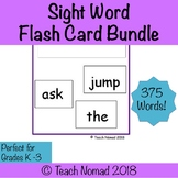 Fountas & Pinnell Sight Word Flash Cards Bundle (375 Words)