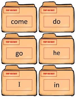 Fountas/Pinnell Sight Word Flash Cards~ Kindergarten Case Files