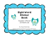 Fountas & Pinnell Sight Word Sticker Book (25 Words)