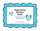 Fountas & Pinnell Sight Word Sticker Book (25 Words)