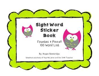 Fountas & Pinnell Sight Word Sticker Book (100 Words)