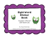 Fountas & Pinnell Sight Word Sticker Book (200 Words)