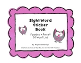 Fountas & Pinnell Sight Word Sticker Book (50 Words)
