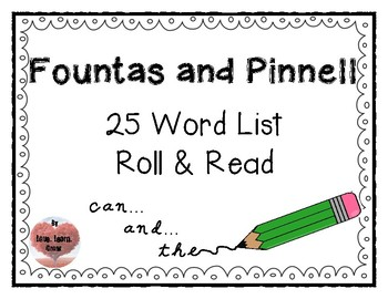 Fountas & Pinnell Sight Words Roll & Read BUNDLE