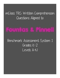Fountas & Pinnell Written Comprehension Questions