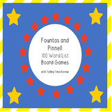 Fountas and Pinell 100 Word List Board Games  with Telling