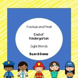 Fountas and Pinell Sight Words Board Game