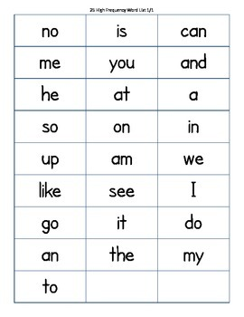 Fountas and Pinnell 175 High Frequency Word Flash Cards