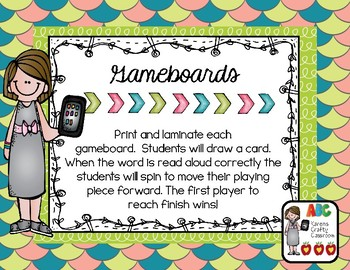 Fountas and Pinnell 200 High Frequency Word Gameboards and Cards