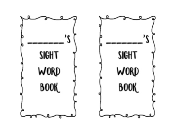 Fountas and Pinnell 50 Sight Word Book