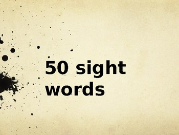 Fountas and Pinnell 50 sight words practice