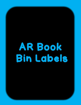 Fountas and  Pinnell, AR and DRA  Book Bin Labels  with and editable option