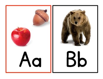 Fountas and Pinnell Alphabet Picture Cards