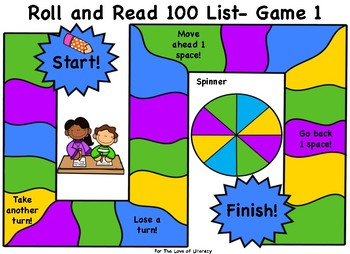Fountas and Pinnell Board Game Bundle- 100 Word List