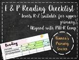 Fountas and Pinnell Checklist R-Z