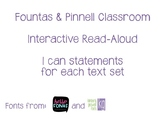 Fountas & Pinnell Classroom Interactive Read Aloud I Can S
