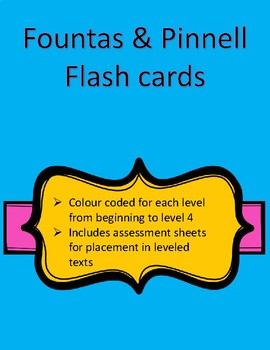 Fountas and Pinnell Flashcards