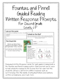 Fountas and Pinnell  Guided Reading  Written Response Prompts Levels J-P