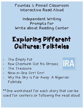 F&P IRA Write about Reading: Folktales (2nd)