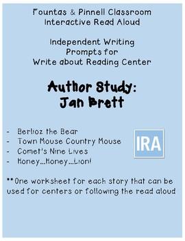 F&P IRA Write about Reading: Jan Brett (2nd)