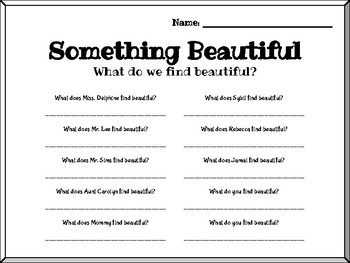 Fountas and Pinnell Interactive Read Aloud: Finding Beauty in the World