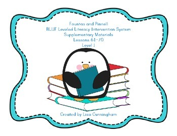 Fountas and Pinnell LLI Blue Lessons 61-70 Supplementary M