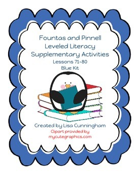 Fountas and Pinnell LLI Blue Lessons 71-80 Supplementary M
