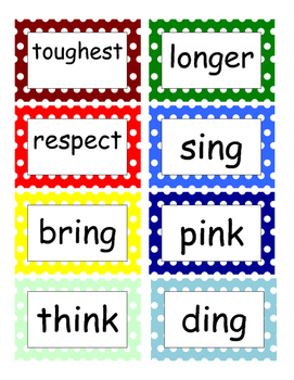 Fountas and Pinnell Phonics Word Wall 3