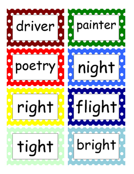 Fountas and Pinnell Phonics Word Wall 5