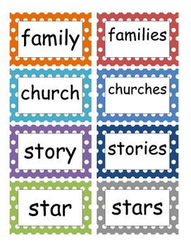 Fountas and Pinnell Phonics Word Wall 6