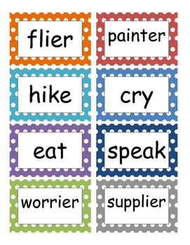 Fountas and Pinnell Phonics Word Wall 7