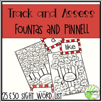 Fountas and Pinnell Popcorn Sight Words