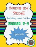 Freebie - Fountas and Pinnell Reading Level Tracker in SPANISH