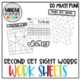 Fountas and Pinnell Sight Word Practice Pages Second Set of 25 Words