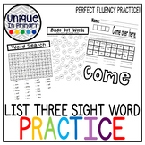 Fountas and Pinnell Sight Word Practice Pages Third Set of 26 Words